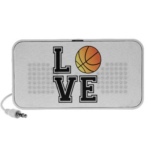 Love basketball, word art, text design for t-shirt travel speaker