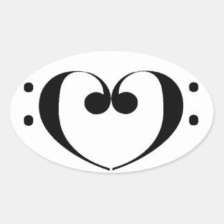 Love Bass Sticker
