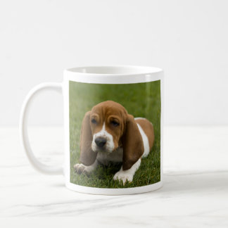 Love Basset Hound Puppy Coffee Mug