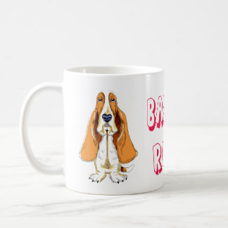 Love Basset Hound Puppy Dog Cartoon Coffee Mug