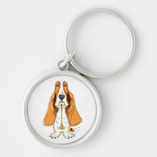 Love Basset Hound Puppy Dog Key Chain