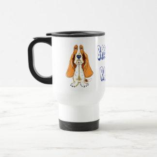 Love Basset Hound Puppy Dog Travel Coffee Mug