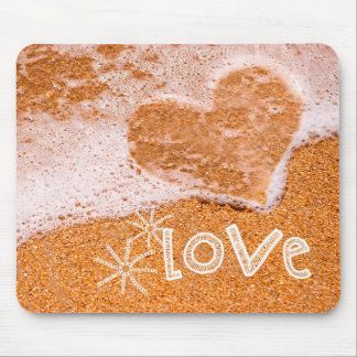 Love. Beach Theme Valentine's Day Gift Mousepads