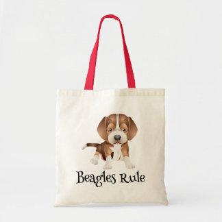 Love Beagle Puppy Dog Canvas Totebag