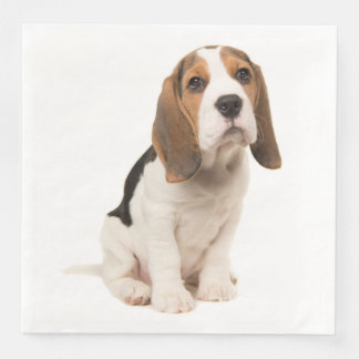 Love Beagle Puppy Dog Wedding Party Disposable Serviette