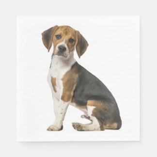 Love Beagle Puppy Dog Wedding Party Disposable Serviettes