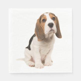 Love Beagle Puppy Dog Wedding Party Paper Serviettes
