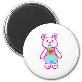 Love Bear 6 Cm Round Magnet