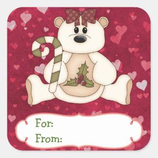 Love Bear Christmas Gift Tag