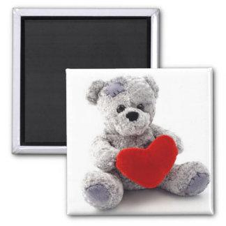 *Love Bear* Teddy Bear Square Magnet