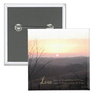 Love Bears All Things 1 Cor. 13:4,7 15 Cm Square Badge