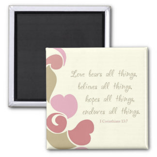 Love Bears All Things Refrigerator Magnet