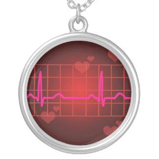 Love Beats Round Pendant Necklace