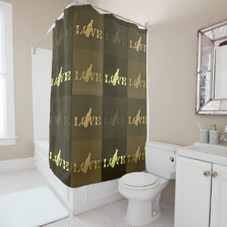 Love Beer Shower Curtain