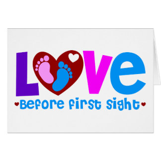 Love Before First Sight Greeting Card
