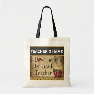 Love Being a 1st Grade Teacher | DIY Name Budget Tote Bag