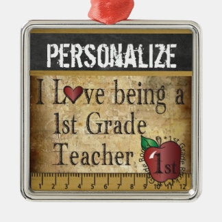 Love being a 1st Grade Teacher | Vintage Christmas Ornament