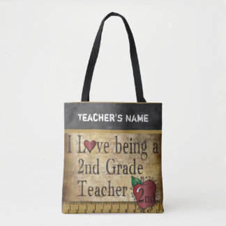 Love Being a 2nd Grade Teacher | DIY Name Tote Bag