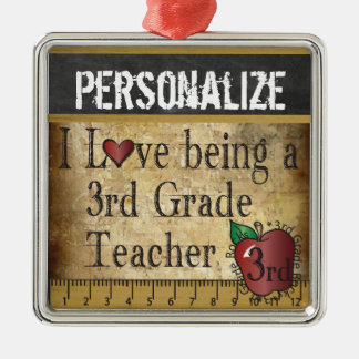 Love being a 3rd Grade Teacher | Vintage Christmas Ornament
