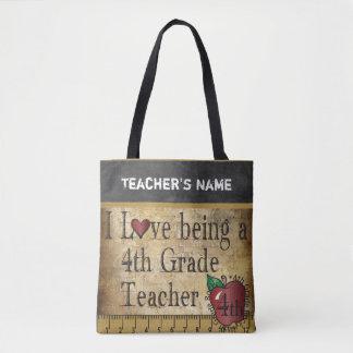 Love Being a 4th Grade Teacher | DIY Name Tote Bag