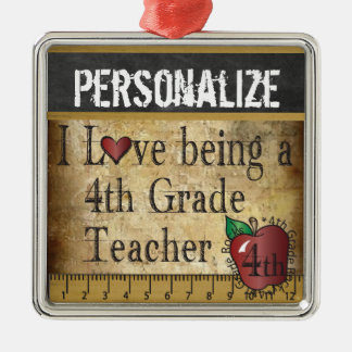 Love being a 4th Grade Teacher | Vintage Christmas Ornament