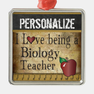 Love being a Biology Teacher | Vintage Christmas Ornament