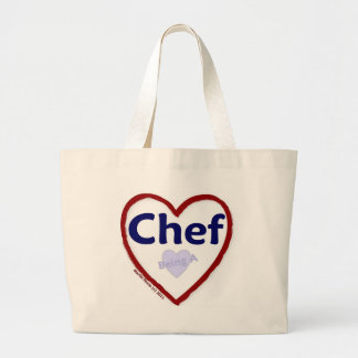 Love Being a Chef Jumbo Tote Bag