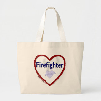 Love Being A Firefighter Jumbo Tote Bag