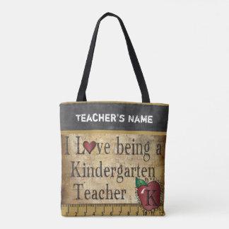 Love Being a Kindergarten Teacher | DIY Name Tote Bag
