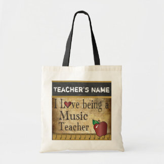 Love Being a Music Teacher | Vintage Style Budget Tote Bag