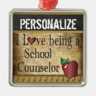 Love being a School Counselor | Vintage Christmas Ornament
