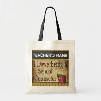 Love Being a School Counselor | Vintage Style Budget Tote Bag