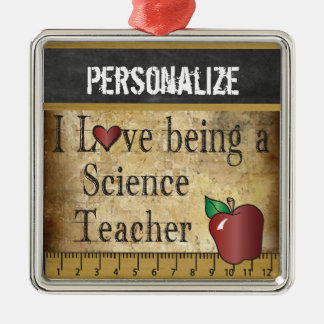 Love being a Science Teacher | Vintage Christmas Ornament