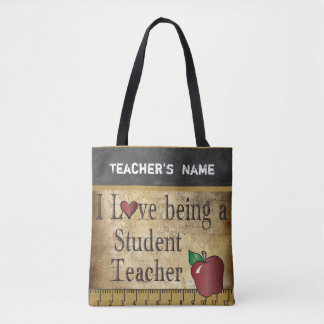 Love Being a Student Teacher | DIY Name Tote Bag