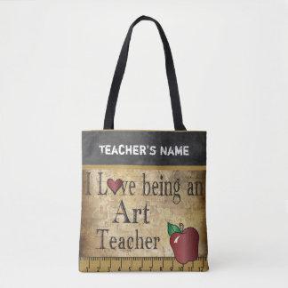 Love Being an Art Teacher | DIY Name Tote Bag