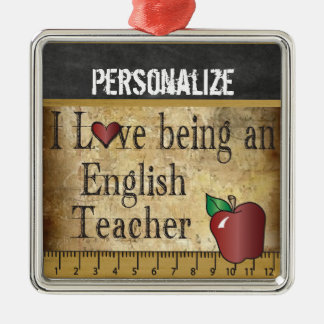 Love being an English Teacher | Vintage Christmas Ornament
