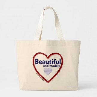 Love Being Beautiful & Modest Jumbo Tote Bag