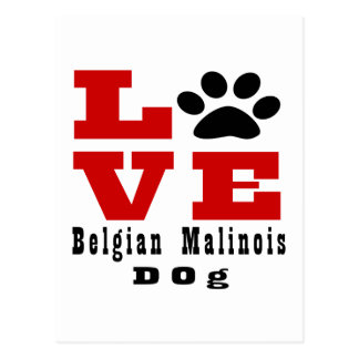 Love Belgian Malinois Dog Designes Postcard