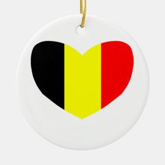 Love Belgium Round Ceramic Decoration