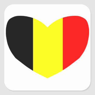 Love Belgium Square Sticker