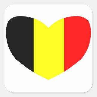 Love Belgium Square Sticker