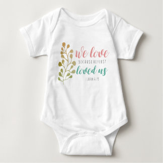 Love Bible Verse Christian CUTE BABY Baby Bodysuit