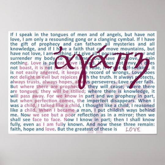 Love Bible Verse on Christian Print
