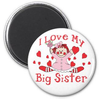 Love Big Sister 6 Cm Round Magnet