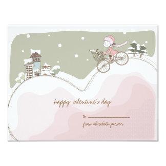 Love Bike Valentine Kids Card 11 Cm X 14 Cm Invitation Card