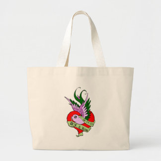 Love Bird DJ and Kim Large Tote Bag
