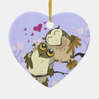 Love Bird Owls~ornament Christmas Ornament