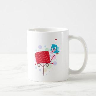 Love Bird Sending Letter Basic White Mug