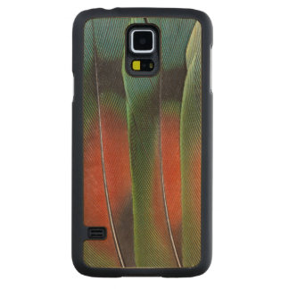 Love Bird Tail Feather Design Carved Maple Galaxy S5 Case