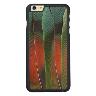 Love Bird Tail Feather Design Carved Maple iPhone 6 Plus Case